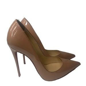 Christian Louboutin So Kate Nude Pump Authentic